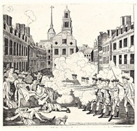 the bloody massacre perpetrated in king-street, boston on march 5th by a party of the 29th regiment by paul revere