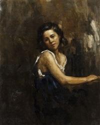 ritratto di fanciulla by rinaldo agazzi