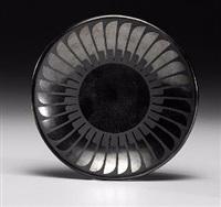 san ildefonso blackware pottery plate by maria martinez