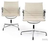 zwei konferenz-armlehnstühle (model ea 108 (pair) by herman miller