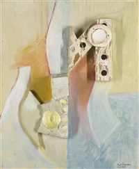 bild n / weihnachtsbild mit grossem n, (picture n / christmas picture with capital n) by kurt schwitters