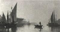 italian harbour scene by eugenio cecchini prichard