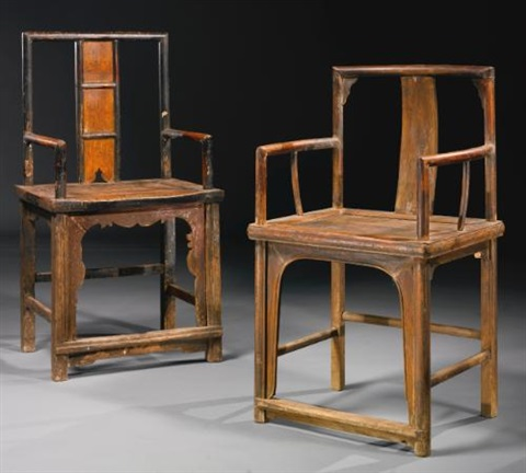 untitled pair of chairs in 2 parts by ai weiwei