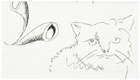 cat by david hockney