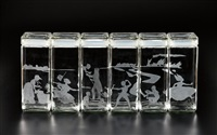 canisters (set of 6) by kara walker