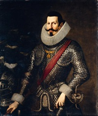 portrait of a gentleman, believed to be don antonio de moncada y de aragón, v duque de montalto by bartolomé gonzalez