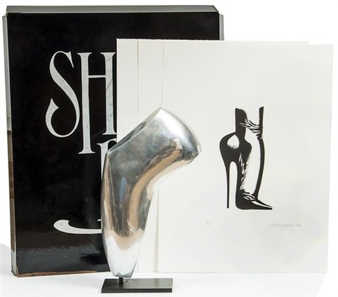 shoe box portfolio of 7 and untitled 2 works 9 works by allen jones