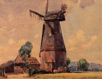 the black mill, sussex by alfred crocker leighton