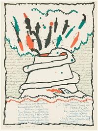 volcan décrit by pierre alechinsky