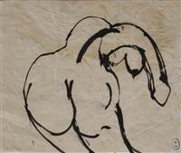 bending nude by brett whiteley