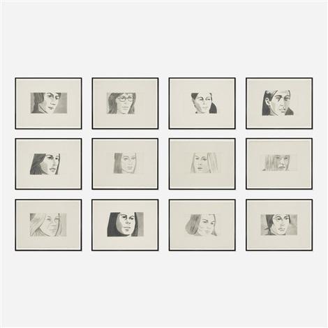 june ekman's class (portfolio of 12) by alex katz
