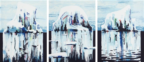icebergs (set of 3) by tomory dodge