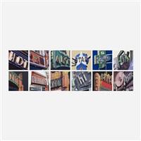 american signs (portfolio of twelve works) by robert cottingham