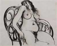 woman in chair by brett whiteley
