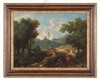 paesaggio con viandanti by gaspard dughet