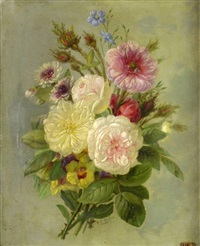 bouquet of roses by françois frédéric grobon
