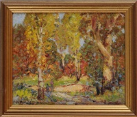 autumn landscape by arthur j. beaumont