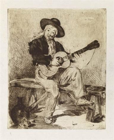 le chanteur espagnol by édouard manet