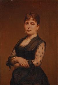 portrait de jeune femme by françois verheyden