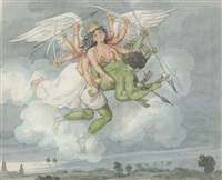 tom raw's dream of a winged hindu deity by charles (sir) d'oyly