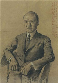 portrait of zhao songnan by xu beihong