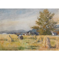 gathering wheat by william brymner