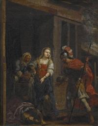 jaël zeigt barak den toten sisera (+ judith und holofernes; pair) by johann heiss