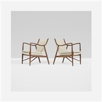 nv45 lounge chairs (pair) by finn juhl