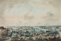 utsigt af stockholm, tagen från mose backe (en höjd å södermalm) (vue of stockholm from mosebacke) by johan fredrik martin