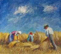 bauern bei der kornernte by lois alton