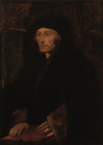 portrait of erasmus of rotterdam by hans holbein the elder