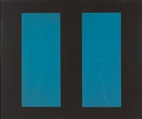 untitled (blue vertical lines) by john mclaughlin