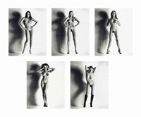 big nudes (5 works) by helmut newton
