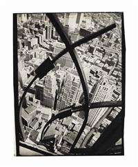 city arabesque, manhattan, 1936 by berenice abbott