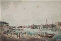 utsigt af stockholm tagen ifrån ingången till blasiiholmen (vue of stockholm from blasieholmen) by johan fredrik martin