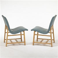 pair of side chairs for the kleinhas music hall by eero saarinen and charles eames