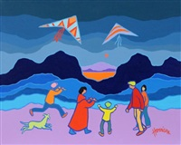 dancing kites by ted harrison