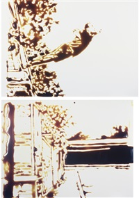 saut dans le vide, after yves klein (from pictures of chocolate) (in 2 parts) by vik muniz