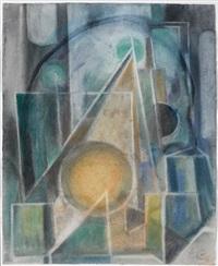abstrakte komposition (+ 3 others; 4 works) by carl heinz krug