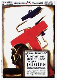 jeunes français! comment deviendriez-vous pilote? ...sans qu'il vous en coûte rien et bénéficiant de nombreux avantages (poster) by roger de valerio