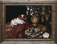 natura morta con cagnolino by francesco fieravino (il maltese)