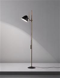 prototype adjustable floor lamp, model no. 1054 by gino sarfatti
