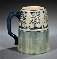mug (decorated by marie de hoa leblanc) by newcomb college pottery