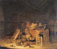 stalinterieur met stilleven by pieter van steenwyck