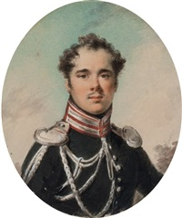 portrait of an officer by alexander molinari
