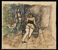 jeune fille au sofa by jules pascin