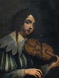 ragazzo con violino by cesare dandini