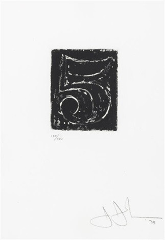 artwork 5 by jasper johns