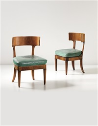 chairs, designed for dr. keysselitz, marburg (pair) by walter gropius
