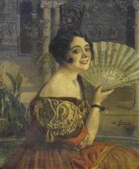 retrato de ofelia nieto by josé nogué massó